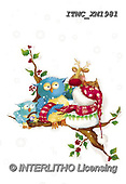 Marcello, CHRISTMAS ANIMALS, WEIHNACHTEN TIERE, NAVIDAD ANIMALES, paintings+++++,ITMCXM1981,#XA# ,owls