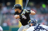 Melky Cabrera (53) of the Chicago White Sox at bat against the Detroit Tigers at Comerica Park on June 2, 2017 in Detroit, Michigan.  The Tigers defeated the White Sox 15-5.  (Brian Westerholt/Four Seam Images)
