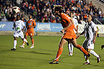 30 October 2010: Carolina's Tom Heinemann (31) scores the equalizing goal. The Puerto Rico Islanders won the 2010 USSF-D2 championship 3-1 on aggregate goals after playing the Carolina RailHawks to a 1-1 tie in the second leg of the Finals in a game played at WakeMed Stadium in Cary, North Carolina.