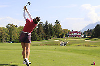 In Gee Chun (KOR) tees off the par3 5th tee during Thursday's Round 1 of The Evian Championship 2018, held at the Evian Resort Golf Club, Evian-les-Bains, France. 13th September 2018.<br /> Picture: Eoin Clarke | Golffile<br /> <br /> <br /> All photos usage must carry mandatory copyright credit (© Golffile | Eoin Clarke)