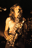 THE ZUTONS - saxophonist Abi Harding - performing live in concert at the Shepherds Bush Empire, London UK - 08 Oct 2004.  Photo by: George Chin/IconicPix