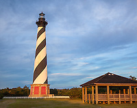Cape Hatteras National Seashore, NC:  Cape Hatteras Lighthouse (1870) with morning sun