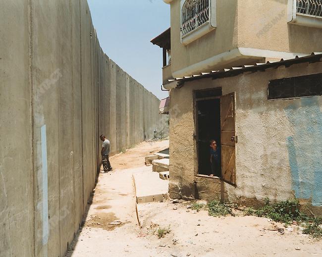 Palestinian homes, Tulkarm, West Bank, Israel, July 2004