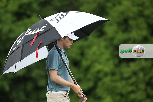 The rain fell and fall back did Kevin Phelan (IRL) during Round Three of the 2015 BMW International Open at Golfclub Munchen Eichenried, Eichenried, Munich, Germany. 27/06/2015. Picture David Lloyd | www.golffile.ie