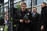 Leicester City's Marc Albrighton arrives at Rodney Parade home of Newport County<br /> <br /> Photographer Ian Cook/CameraSport<br /> <br /> The Emirates FA Cup Third Round - Newport County v Leicester City - Sunday 6th January 2019 - Rodney Parade - Newport<br />  <br /> World Copyright © 2019 CameraSport. All rights reserved. 43 Linden Ave. Countesthorpe. Leicester. England. LE8 5PG - Tel: +44 (0) 116 277 4147 - admin@camerasport.com - www.camerasport.com