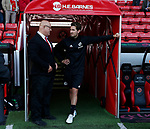 Nick Travis talks to Brendan during the English Championship League match at Bramall Lane Stadium, Sheffield. Picture date: August 5th 2017. Pic credit should read: Simon Bellis/Sportimage