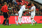 Chris Smalling replaces Phil Jagielka of England - England vs. Slovenia - UEFA Euro 2016 Qualifying - Wembley Stadium - London - 15/11/2014 Pic Philip Oldham/Sportimage