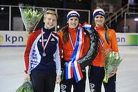 SHORTTRACK: AMSTERDAM: Jaap Edenhal, 04-01-2015, KPN NK Shorttrack, Podium Junioren A Meisjes, ©foto Martin de Jong