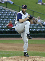 June 14, 2004:  /p/ David Maurer of the Syracuse Sky Chiefs, Class-AAA International League affiliate of the Toronto Blue Jays, during a game at Frontier Field in Rochester, NY.  Photo by:  Mike Janes/Four Seam Images