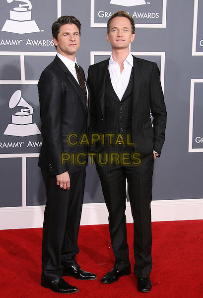 David Burtka, Neil Patrick Harris.The 54th Annual GRAMMY Awards held at the Staples Center, Los Angeles, California, USA..February 12th, 2012.full length black suit waistcoat couple .CAP/ADM.©AdMedia/Capital Pictures.