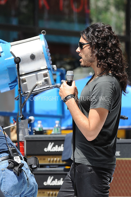 WWW.ACEPIXS.COM . . . . . .July 26 2009, New York City....Actor Russell Brand on the Set of Get Him to the Greek in Rockefeller Center July 26, 2009 in New York City....Please byline: KRISTIN CALLAHAN - ACEPIXS.COM.. . . . . . ..Ace Pictures, Inc: ..tel: (212) 243 8787 or (646) 769 0430..e-mail: info@acepixs.com..web: http://www.acepixs.com .