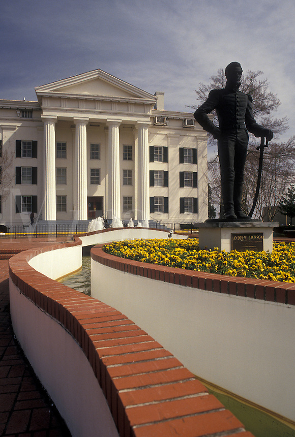 city hall, Jackson, Mississippi, MS, Statue of Andrew Jackson outside Jackson City Hall in Jackson.
