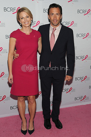 New York, NY- October 9: Amy Robach and Andrew Shue attends the 2014 Breast Cancer Research Foundation awards luncheon honoring Barbara Walters  at the Waldorf-Astoria on October 9, 2014 in New York City. Credit: John Palmer/MediaPunch