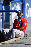 New Hampshire Fisher Cats pitcher Luis Santos (41) before a game against the Reading Fightin Phils on June 6, 2016 at FirstEnergy Stadium in Reading, Pennsylvania.  Reading defeated New Hampshire 2-1.  (Mike Janes/Four Seam Images)