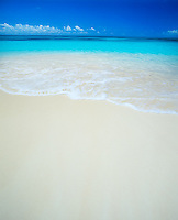 Barbuda, West Indies<br /> White sand and calm turquoise waters of Coco Point Beach - Caribbean Leeward Islands