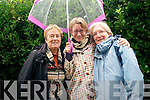 Water photo competition adult winners Margaret O'Shea, Rachel Holstead and Maire Leime during the Water Day Celebration at the Diseart grounds, Dingle, on Saturday afternoon.