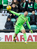 2nd February 2019, Easter Road, Edinburgh, Scotland; Ladbrokes Premiership football, Hibernian versus Aberdeen; Ofir Marciano of Hibernian