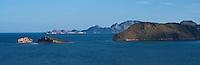 Desert islands in Loreto Bay, Baja California highway 1, South of Loreto