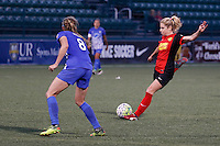 Rochester, NY - Friday June 24, 2016: Western New York Flash midfielder McCall Zerboni (7), Boston Breakers defender Julie King (8) during a regular season National Women's Soccer League (NWSL) match between the Western New York Flash and the Boston Breakers at Rochester Rhinos Stadium.