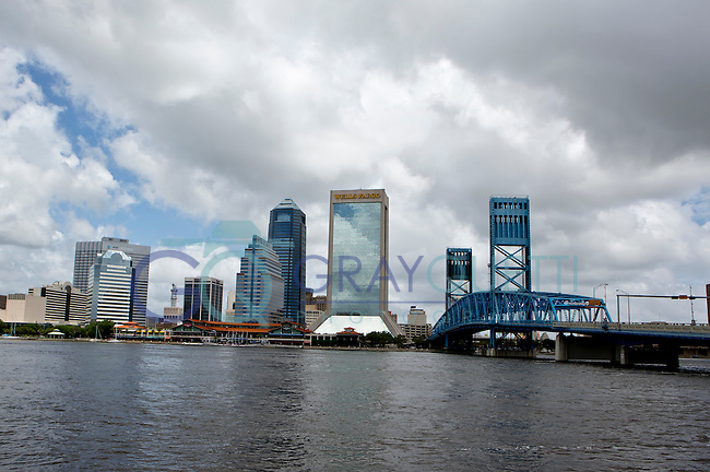 May 27, 2012.  Veterans Memorial and Jacksonville City Skyline