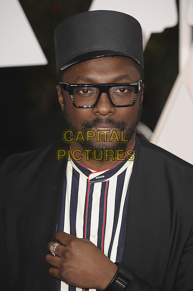 HOLLYWOOD, CA - FEBRUARY 22: Will.I.Am attends 87th Annual Academy Awards at The Dolby Theater on February 22nd, 2015 in Hollywood, California. <br /> CAP/MPI/PGMP<br /> &copy;PGMP/MPI/Capital Pictures
