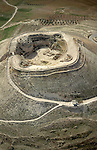 Judea, an aerial view of Herodion, built by Herod the Great as a fortified palace
