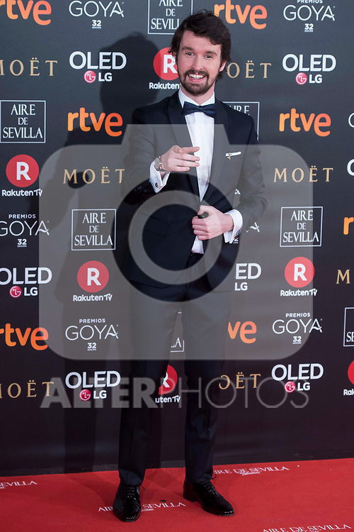 Santiago Alveru attends red carpet of Goya Cinema Awards 2018 at Madrid Marriott Auditorium in Madrid , Spain. February 03, 2018. (ALTERPHOTOS/Borja B.Hojas)