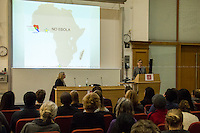 London, 10/11/2014. Today, LSE (London School of Economics) Human Rights presented a public lecture called &quot;Ebola, Peace and Security&quot; hosted by Karin Landgren (Special Representative of the UN Secretary-General, SRSG; she has run the UN peacekeeping operation in Liberia since mid-2012, with over 8,000 personnel including troops, police and civilians; ...<br />