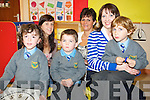 Junior infants in the autism unit of Cullina National School Faye Cronin, Cian O'Hara and Dawid Szabat pictured with Lisa Dennehy, Siobhan O'Shea and Sandra Walsh on Tuesday...........................................................................................................