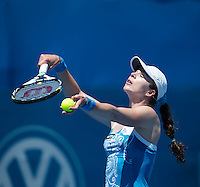 GALINA VOSKOBEVA..Tennis - Apia Sydney International -  Sydney 2013 -  Olympic Park - Sydney - NSW - Australia. Sunday 6th January  2013. .© AMN Images, 30, Cleveland Street, London, W1T 4JD.Tel - +44 20 7907 6387.mfrey@advantagemedianet.com.www.amnimages.photoshelter.com.www.advantagemedianet.com.www.tennishead.net