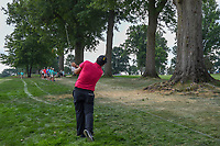 Patrick Reed (USA) hits from the trees on 2 during 4th round of the World Golf Championships - Bridgestone Invitational, at the Firestone Country Club, Akron, Ohio. 8/5/2018.<br /> Picture: Golffile | Ken Murray<br /> <br /> <br /> All photo usage must carry mandatory copyright credit (© Golffile | Ken Murray)