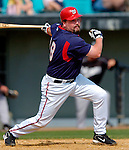 14 March 2006: Matthew LeCroy, catcher for the Washington Nationals, at bat during a Spring Training game against the Florida Marlins. The Marlins defeated the Nationals 2-1 at Space Coast Stadium, in Viera, Florida...Mandatory Photo Credit: Ed Wolfstein..