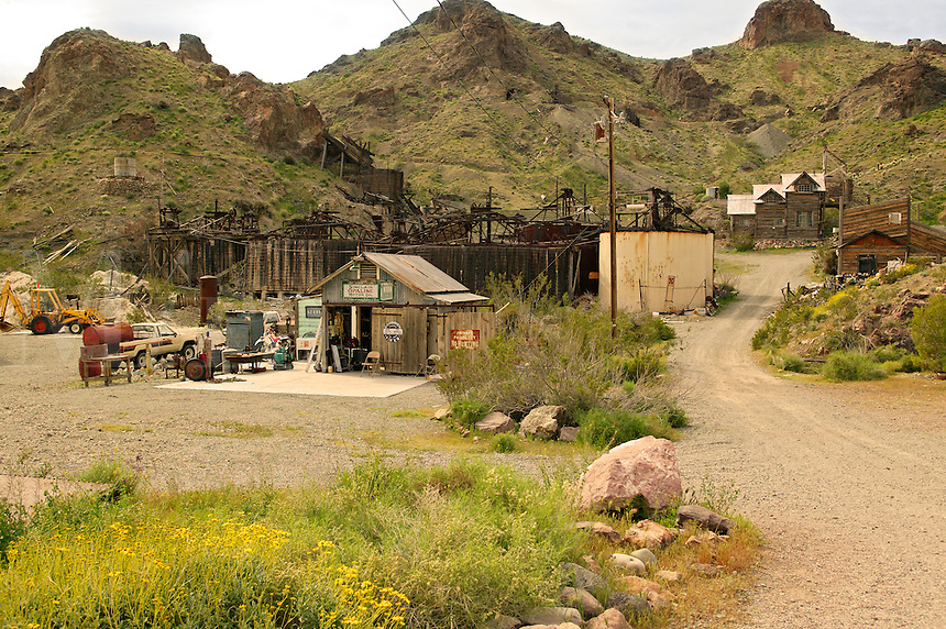 Old restored gold mine and related equipment, near Lake Mohave, Nelson, Nevada