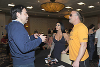LAS VEGAS, NV - MAY 02: Simon Inoki and Rob Van Dam at the 53rd Cauliflower Alley Club Reunion Convention at the Gold Coast Hotel & Casino in Las Vegas, Nevada on May 2, 2018. Credit: George Napolitano/MediaPunch