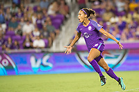 Orlando, FL - Saturday July 15, 2017: Kristen Edmonds celebrates a goal during a regular season National Women's Soccer League (NWSL) match between the Orlando Pride and FC Kansas City at Orlando City Stadium.