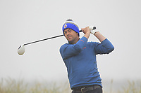 Conor McCaughey (Dungannon) on the 1st tee during Round 1 - Matchplay of the North of Ireland Championship at Royal Portrush Golf Club, Portrush, Co. Antrim on Wednesday 11th July 2018.<br /> Picture:  Thos Caffrey / Golffile