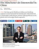 Handelsblatt - Fabian Von Hamburg of Hontest in Shanghai, China      published 06MARCH2017