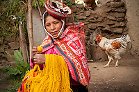 Each year, the weavers of Huilloc, and the surrounding communities in the valley, gather together to dye the year's supply of wool. This intensive process takes time and manual labor, but once completely finished, the wool provides great economical value and the textiles are delightful.