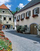 Austria, Lower Austria, Wachau, Wine village Duernstein: lane