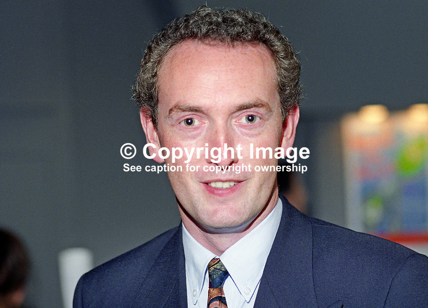 John Hutton, MP, Labour Party, politician, UK, 19921030JH.<br /> <br /> Copyright Image from Victor Patterson, 54 Dorchester Park, <br /> Belfast, UK, BT9 6RJ<br /> <br /> t1: +44 28 9066 1296 (from Rep of Ireland 048 9066 1296)<br /> t2: +44 28 9002 2446 (from Rep of Ireland 048 9002 2446)<br /> m: +44 7802 353836<br /> <br /> e1: victorpatterson@me.com<br /> e2: victorpatterson@gmail.com<br /> www.victorpatterson.com<br /> <br /> Please see my Terms and Conditions of Use at www.victorpatterson.com. It is IMPORTANT that you familiarise yourself with them.<br /> <br /> Images used on the Internet must be visibly watermarked i.e. &copy; Victor Patterson<br /> within the body of the image and copyright metadata must not be deleted. Images <br /> used on the Internet have a size restriction of 4kbs and will be chargeable at current<br />  NUJ rates unless agreed otherwise.<br /> <br /> This image is only available for the use of the download recipient i.e. television station, newspaper, magazine, book publisher, etc, and must not be passed on to any third <br /> party. It is also downloaded on condition that each and every usage is notified within 7 days to victorpatterson@me.com<br /> <br /> The right of Victor Patterson to be identified as the author is asserted in accordance with The Copyright Designs And Patents Act (1988). All moral rights are asserted.