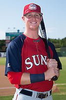 Hagerstown Suns infielder Conor Keniry (11) poses for a photo prior to the game against the Kannapolis Intimidators at CMC-Northeast Stadium on July 18, 2015 in Kannapolis, North Carolina.  The Intimidators defeated the Suns 1-0.  (Brian Westerholt/Four Seam Images)