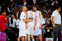 Expulsion de Rudy FERNANDEZ - 15.07.2012 - France / Espagne - Match de preparation JO 2012 -Paris..Photo : Amandine Noel / Icon Sport