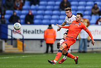 Bolton Wanderers' Joe Williams competing with Millwall's Lee Gregory <br /> <br /> Photographer Andrew Kearns/CameraSport<br /> <br /> The EFL Sky Bet Championship - Bolton Wanderers v Millwall - Saturday 9th March 2019 - University of Bolton Stadium - Bolton <br /> <br /> World Copyright © 2019 CameraSport. All rights reserved. 43 Linden Ave. Countesthorpe. Leicester. England. LE8 5PG - Tel: +44 (0) 116 277 4147 - admin@camerasport.com - www.camerasport.com