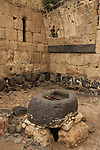Israel, Lower Galilee, Crusader fortress Belvoir, the water cistern