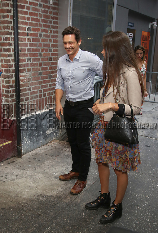 James Franco and Isabel Pakzad attend the Opening Night Performance of 'Straight White Men' at the Hayes Theatre on July 23, 2018 in Chicago.