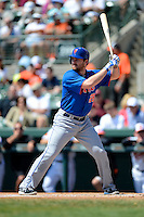 New York Mets second baseman Daniel Murphy #28 during a Spring Training game against the Baltimore Orioles at Ed Smith Stadium on March 30, 2013 in Sarasota, Florida.  (Mike Janes/Four Seam Images)