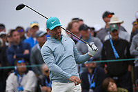 Paul Casey (GBR) watches his tee shot on 9 during round 1 of the 2019 US Open, Pebble Beach Golf Links, Monterrey, California, USA. 6/13/2019.<br /> Picture: Golffile | Ken Murray<br /> <br /> All photo usage must carry mandatory copyright credit (© Golffile | Ken Murray)