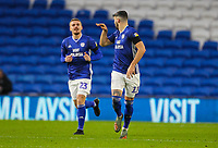 4th January 2020; Cardiff City Stadium, Cardiff, Glamorgan, Wales; English FA Cup Football, Cardiff City versus Carlisle; Callum Paterson of Cardiff City celebrates after scoring his sides first goal in the 50th minute to make the score 1-2 - Strictly Editorial Use Only. No use with unauthorized audio, video, data, fixture lists, club/league logos or 'live' services. Online in-match use limited to 120 images, no video emulation. No use in betting, games or single club/league/player publications