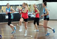 02.09.2016 Silver Ferns Laura Langman during training in Melbourne Australia. Mandatory Photo Credit ©Michael Bradley.