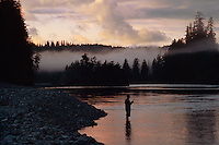 Fisherman  on the  Smith River<br /> Jedediah Smith Redwoods State Park<br /> Del Norte County <br /> California
